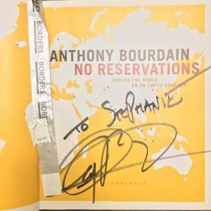Signed Copy of Anthony Bourdain's No Reservations Book