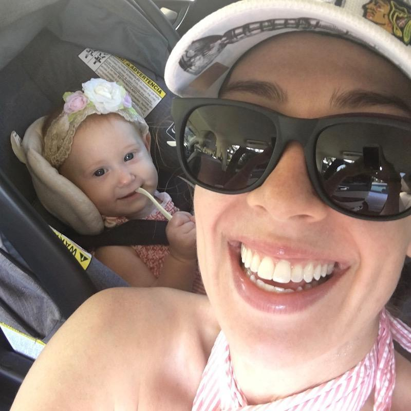 Eileah and Mommy Selfie With Sunglasses Before Filming 2018