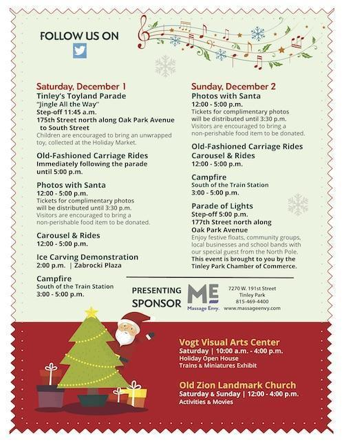 2018 Tinley Park Holiday Flyer Page 2