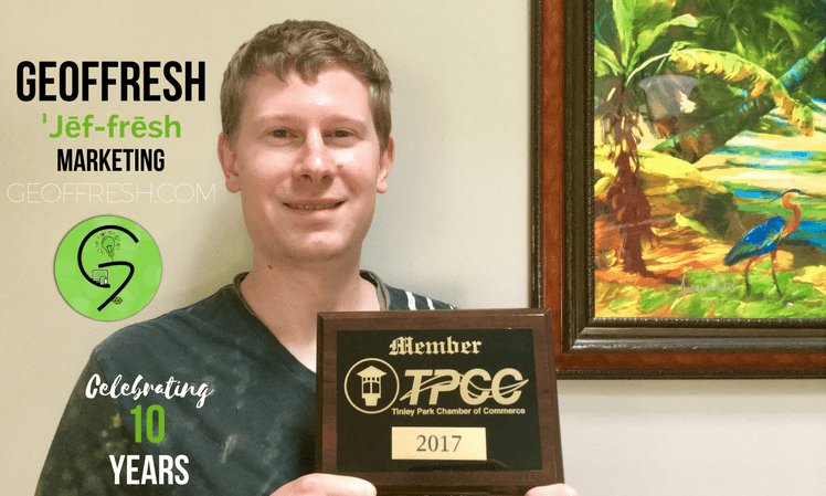 geoffresh tinley park chamber of commerce plaque 2017
