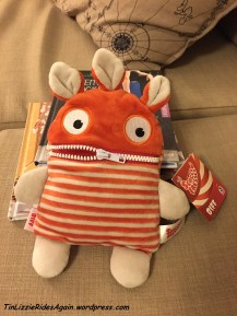 "This cutie is a Sorgenfresser, or ""worries eater"" - you write your worries on a piece of paper and put them in his mouth, then zip it closed. Voila! Your worries are gone! I love this!"
