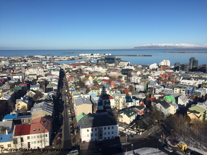 Reykjavik as seen from the top of Hallgrimmskirkja