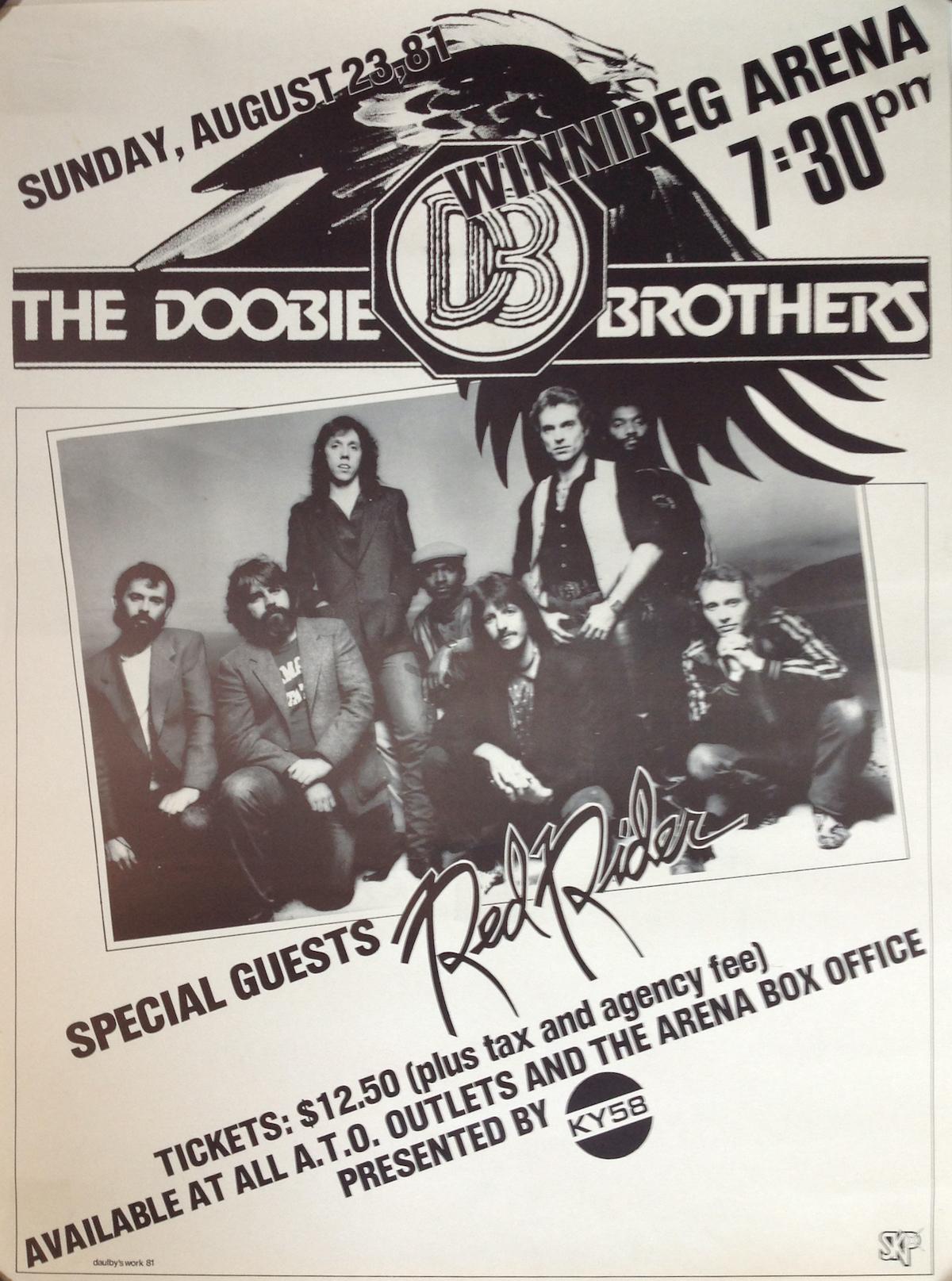 The Doobie Brothers | Rare 1981 Canadian Tour Poster - Tinnitist