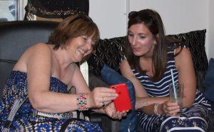Mel and Jane socialising