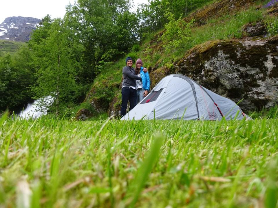 Abenteuercamper in Geiranger, Norwegen