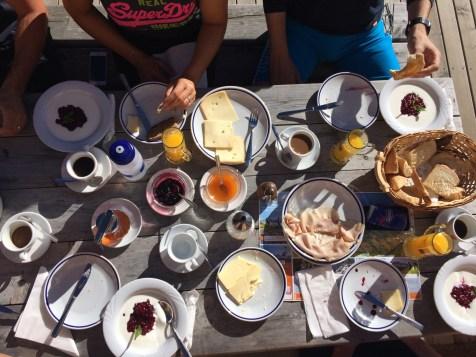 MTB-Trip Dolomiten / Frühstückstraum