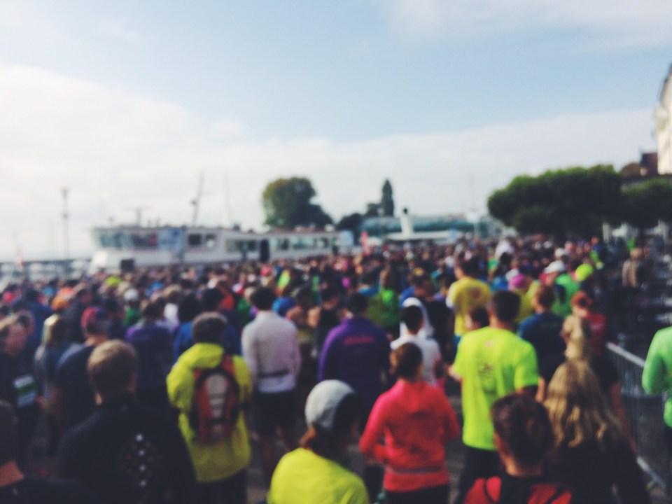 Halbmarathon - Menschenmassen am Start