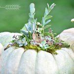 Diy Succulent Pumpkin Centerpiece Tinsel Wheat