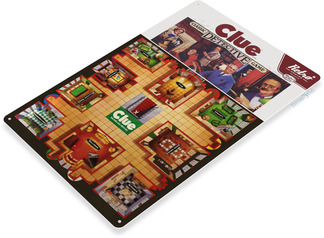C272 Clue Board Game Tin Sign