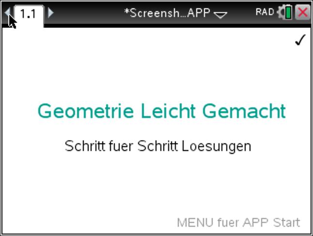 TiNspire – Geometrie App mit Schrittweisen Loesungen