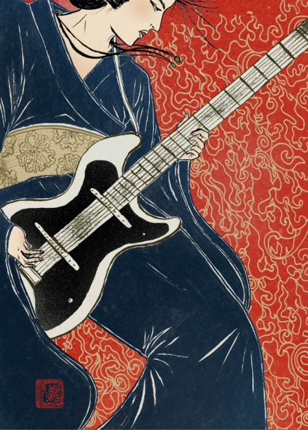 Kimono punk, samurai punk samurai guitarra electrica, japon rock