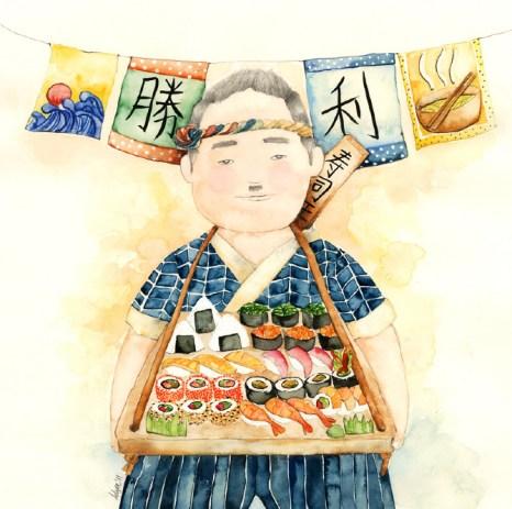 Sushi, king of sushi, rey del sushi, vendedor de sushi, escritor de sushi, escritores, vivir de escribir