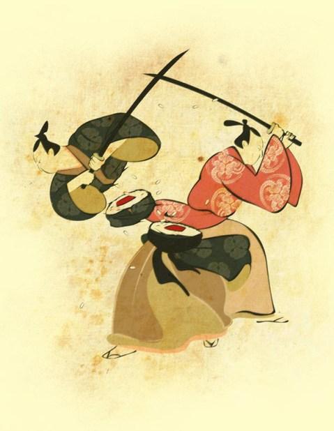 Samurai Sushi, sushi, samurais