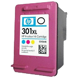 tinteiro-vazio-hp-301XL-tricolor