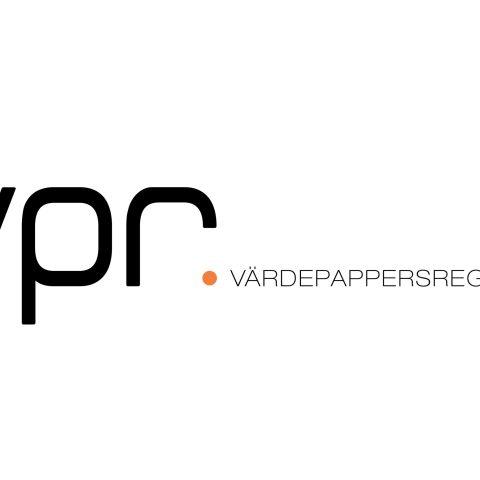 Logotype vpr värdepappersregistret