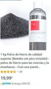 polvo de hierro para mordentar tejidos