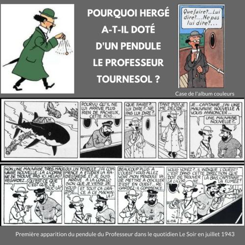 POURQUOI… LE PROFESSEUR TOURNESOL A-T-Il UN PENDULE ?