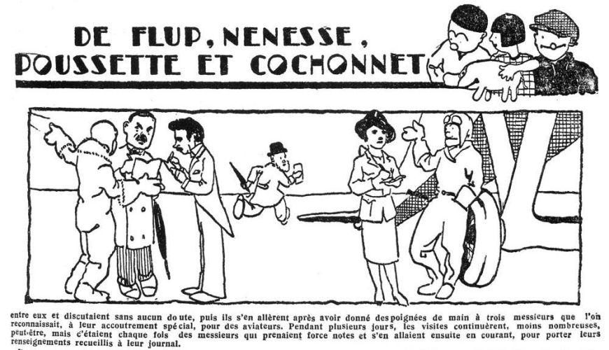 HERGÉ AVANT TINTIN : FLUP, NÉNESSE, POUSSETTE ET COCHONNET (1928)