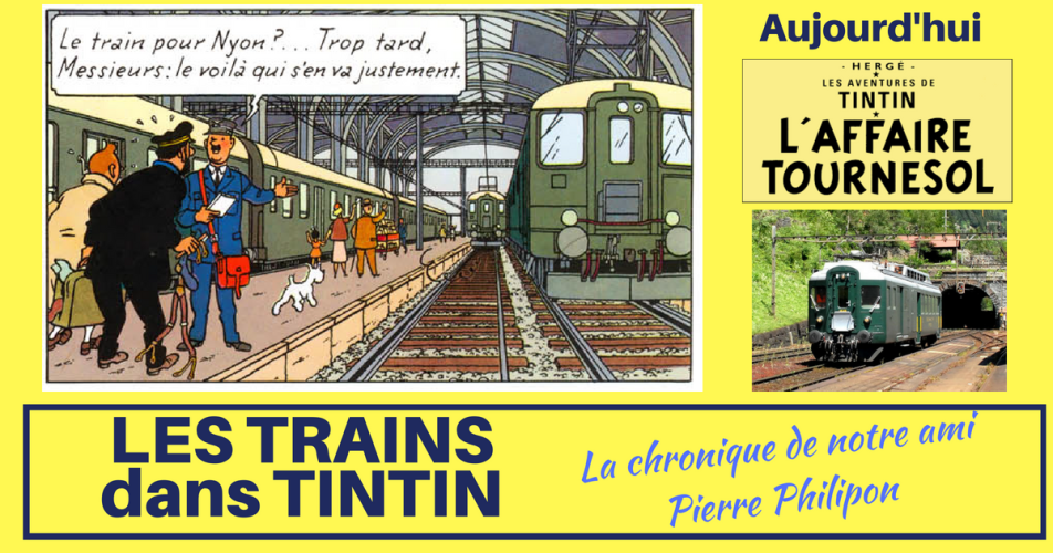 LE TRAIN DANS L'AFFAIRE TOURNESOL