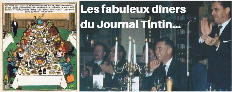 LES PANTAGRUÉLIQUES REPAS DES DESSINATEURS DU JOURNAL TINTIN (1947)