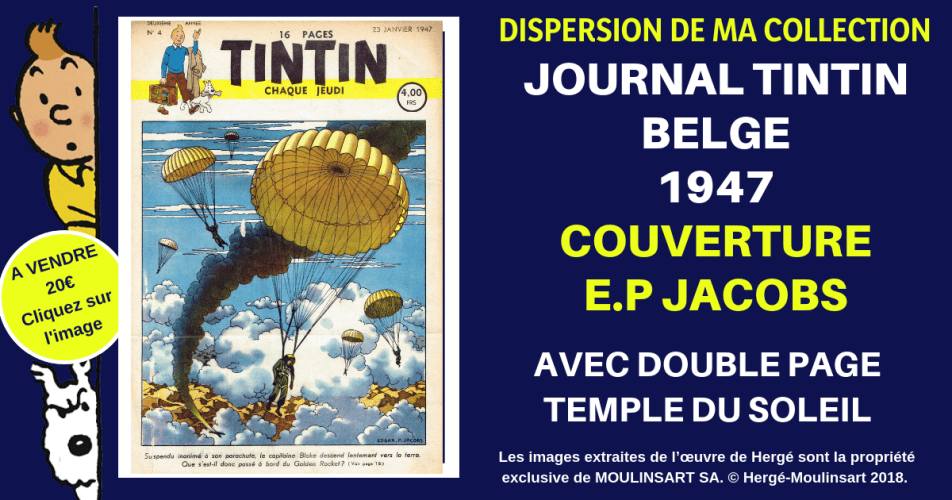 JOURNAL TINTIN COUVERTURE E.P. JACOBS (1947)