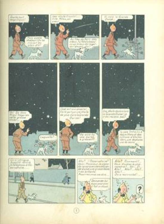 TINTIN shooting star Hergé RG tintin.com