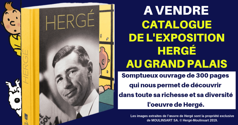 À VENDRE : CATALOGUE HERGÉ AU GRAND PALAIS