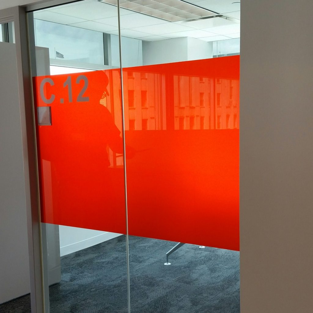 Interesting Decorative Glass Film Job Adds New Flair to Office Space 3