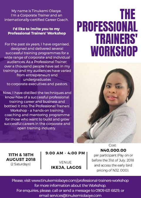 Professional trainer's workshop
