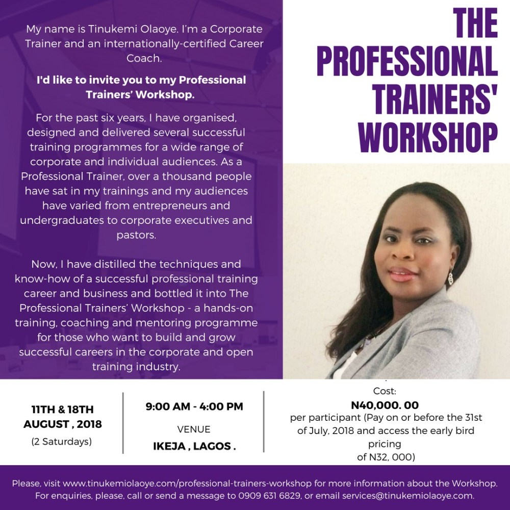 Professional Trainers' Workshop