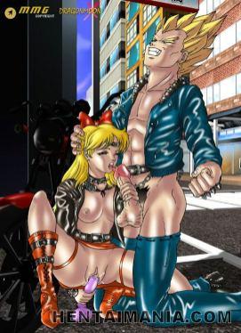 Diminutive hentai vixen getting petite fuckbox ate by a wild man