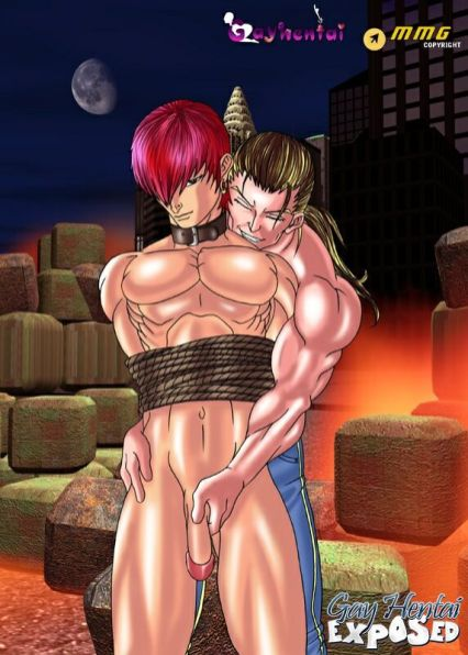 Sizzling light-haired anime pornography gay gets shackled up and rectally pulverized rock-hard