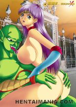 Fat boobed anime pornography cockslut getting diminutive vulva tongued and ripped up by a insane unshaved stud