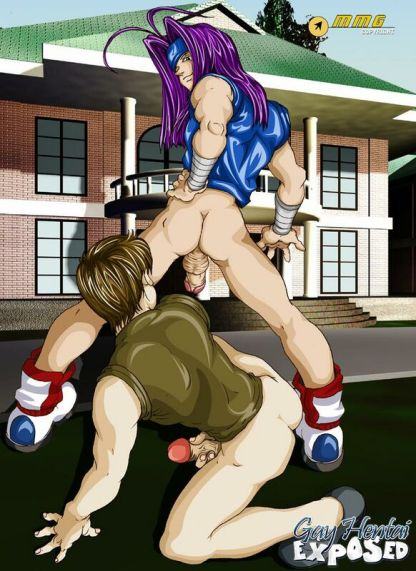 Lengthy haired light-haired anime porn gay tearing up a dude's taut cornhole outdoors