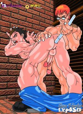 Obscene light-haired hentai faggot getting stunning bulls eye penetrated by a large phallus