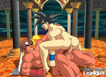 Handsome towheaded anime porno faggot ripping up a twink's backside outdoors