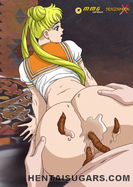 Dark-skinned haired anime porn lady getting drilled by a green monster outdoors