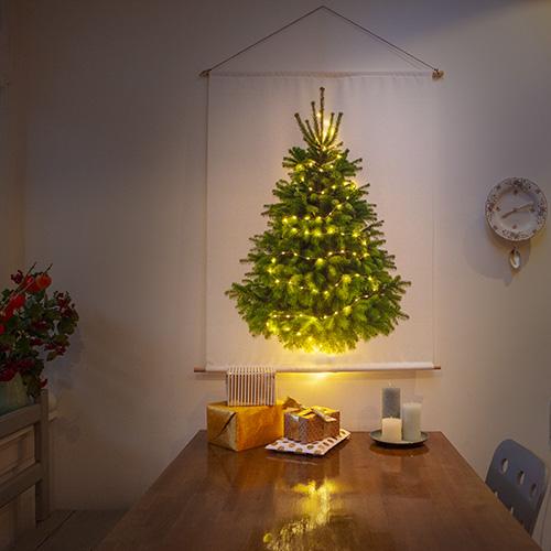 kerstboom op stof met LED