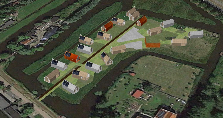 ecologisch tiny village in het veenweidegebied