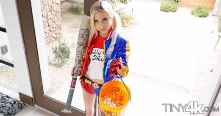 Tiny 4k Piper Perri in Harlequin Halloween 2