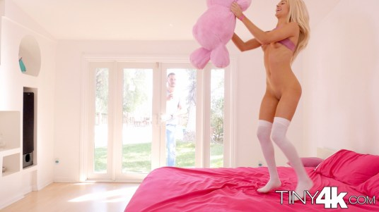 Elsa Jean in Tiny Teen Sneaks In Boyfriend 4