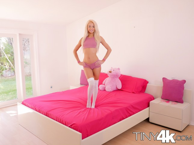 Elsa Jean in Tiny Teen Sneaks In Boyfriend 7