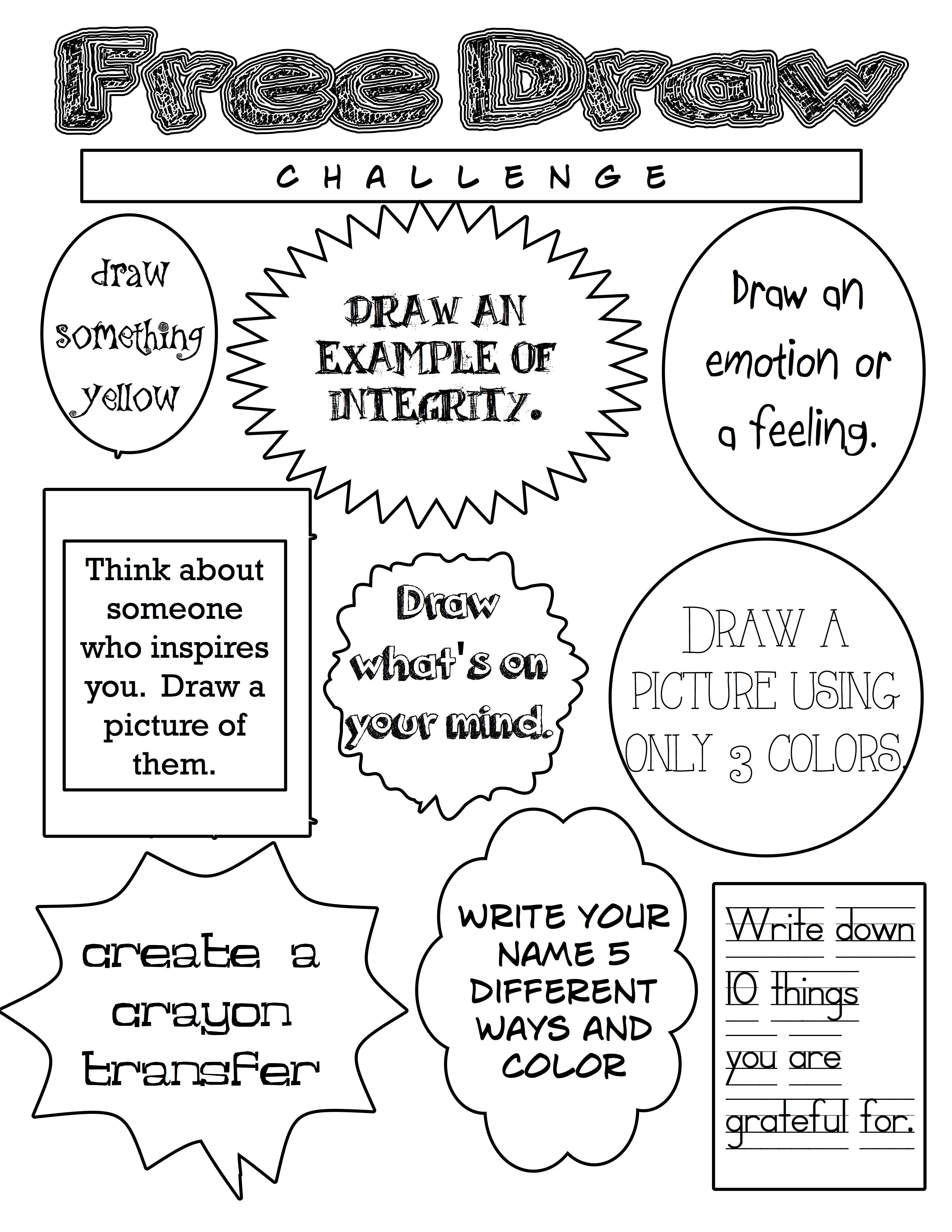 April Free Draw Challenge