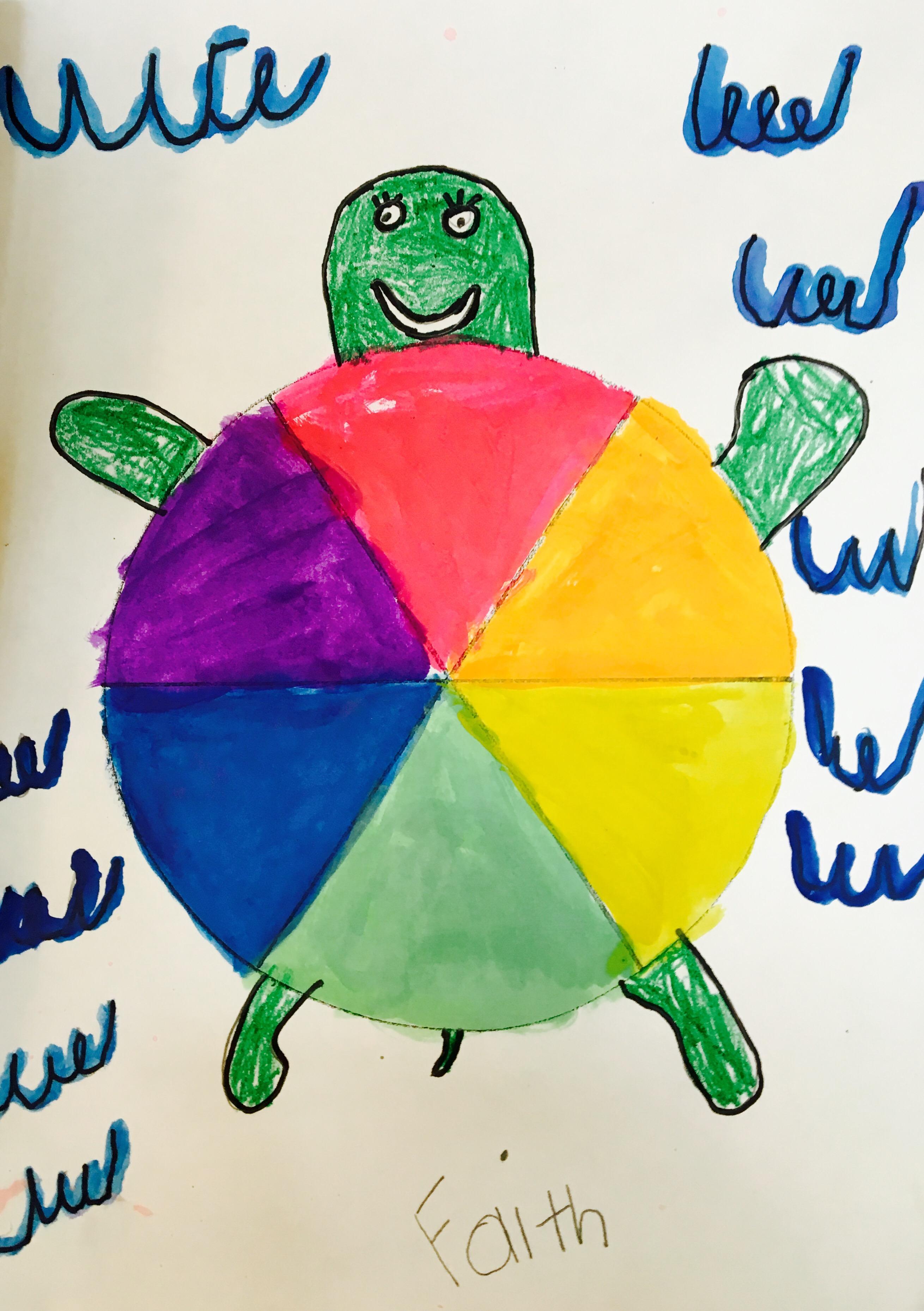 Color Wheel Turtles