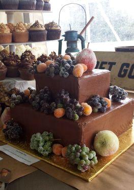 Wedding Cake with Sugared Fruit