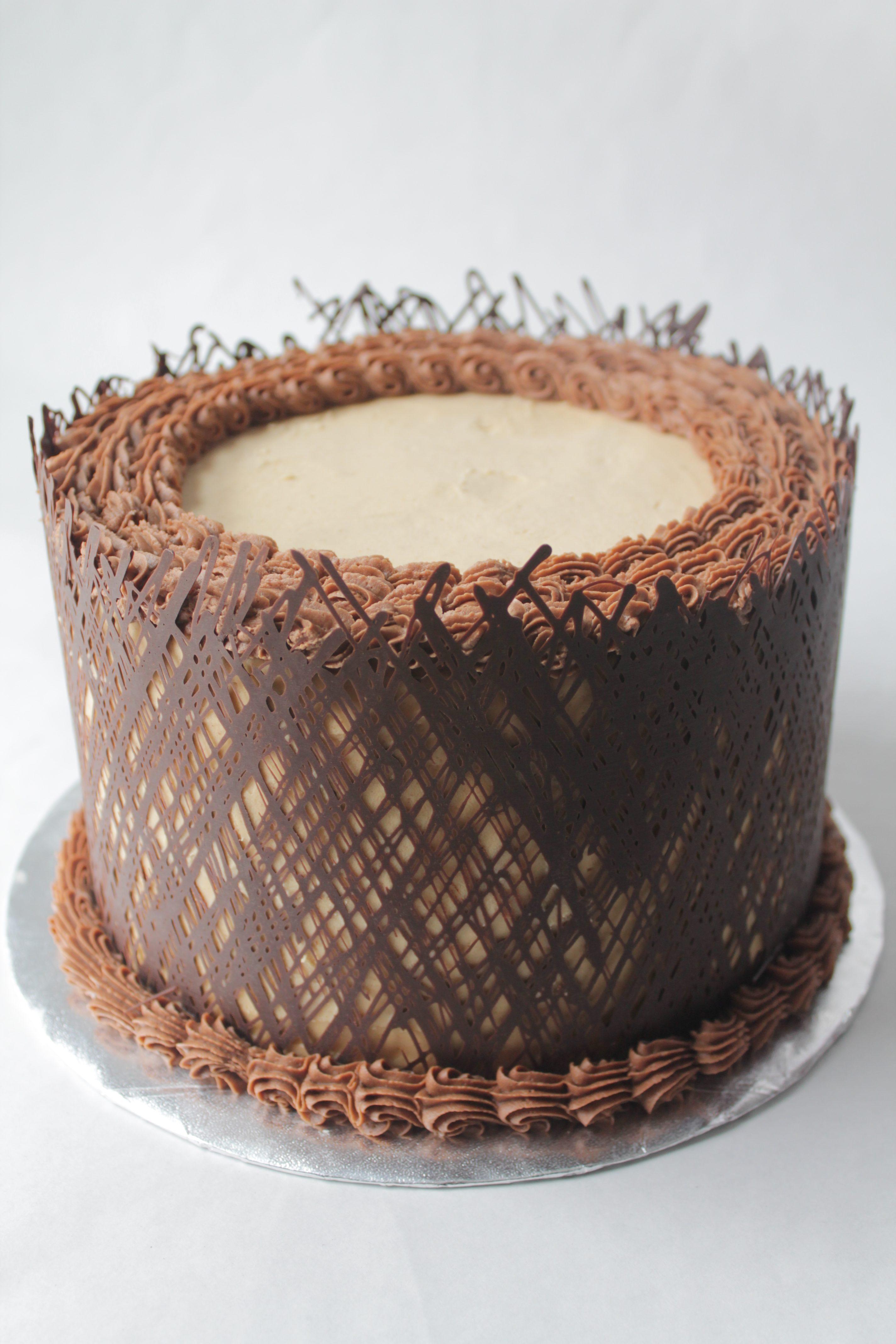 Chocolate wrapped cake