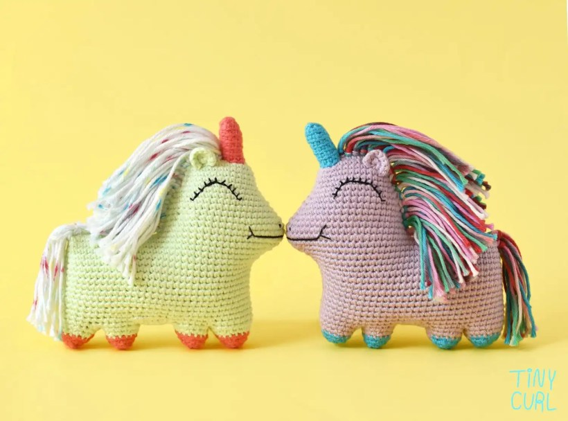 Uni Queen Amigurumi Crochet Pattern by Tiny Curl