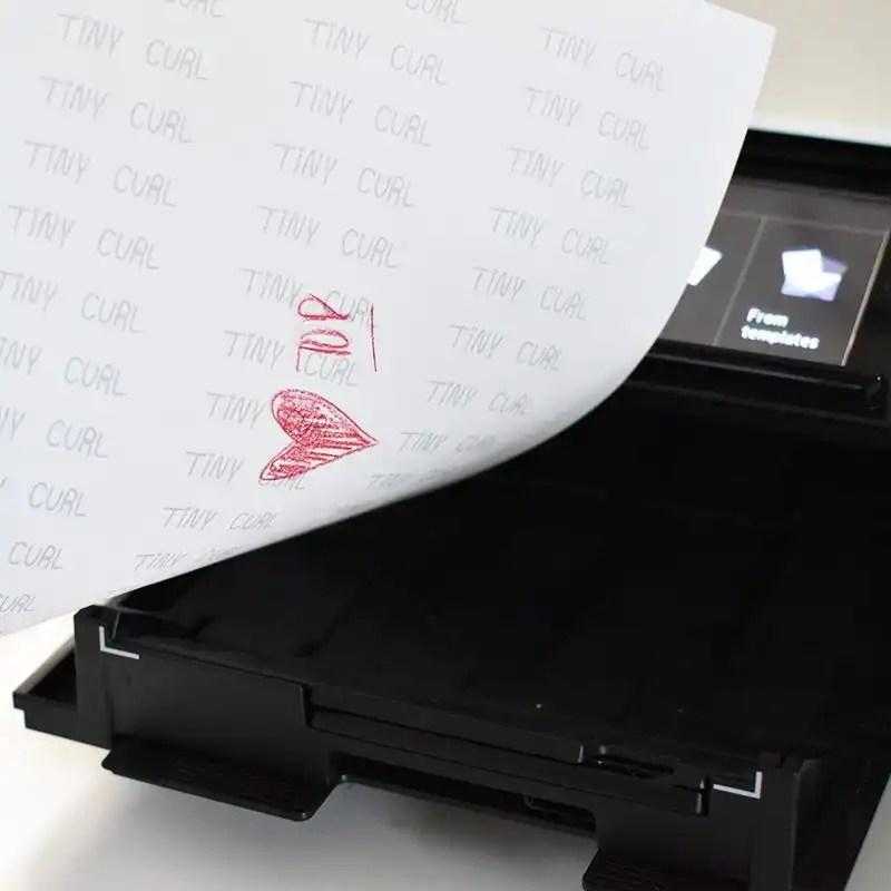 DIY Fabric Labels - Printer Feed