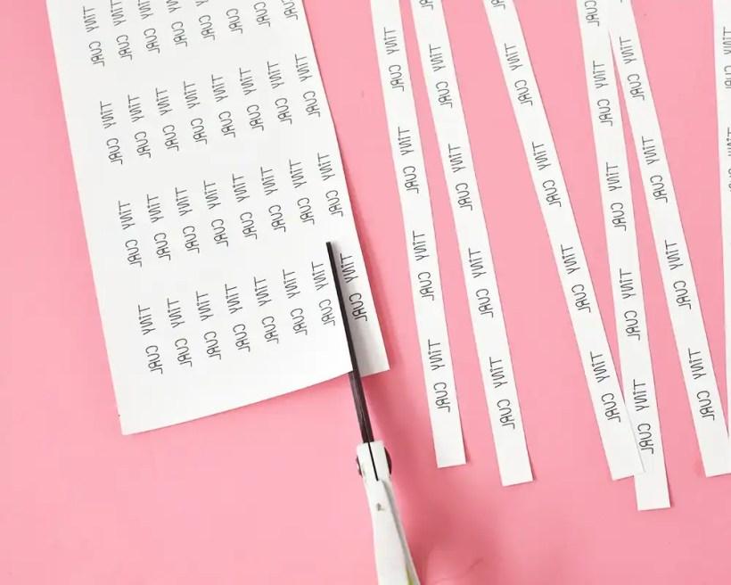 DIY Fabric Labels - Cut Strips