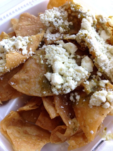Green chile chips - Tiny Global Kitchen